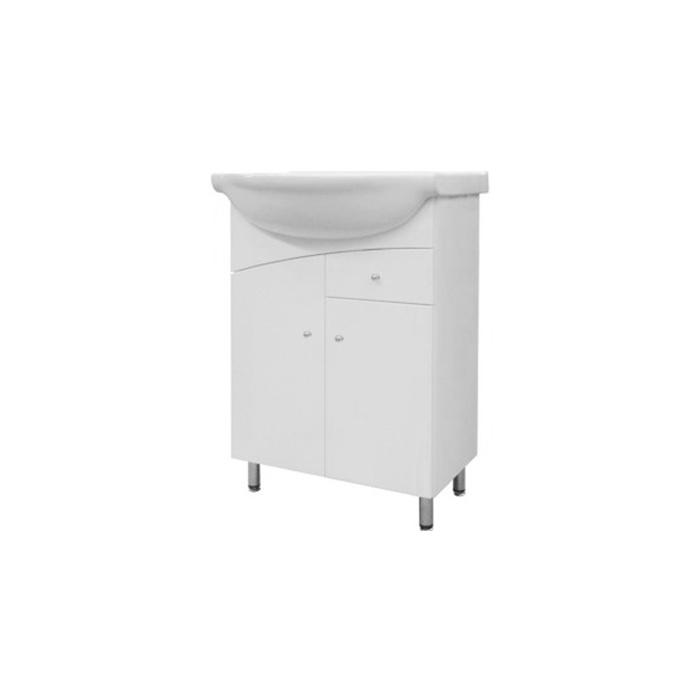 NEPTUN 55 ZV Well Koupelnová skříňka s umyvadlem, závěsná s nožičkami, skladem