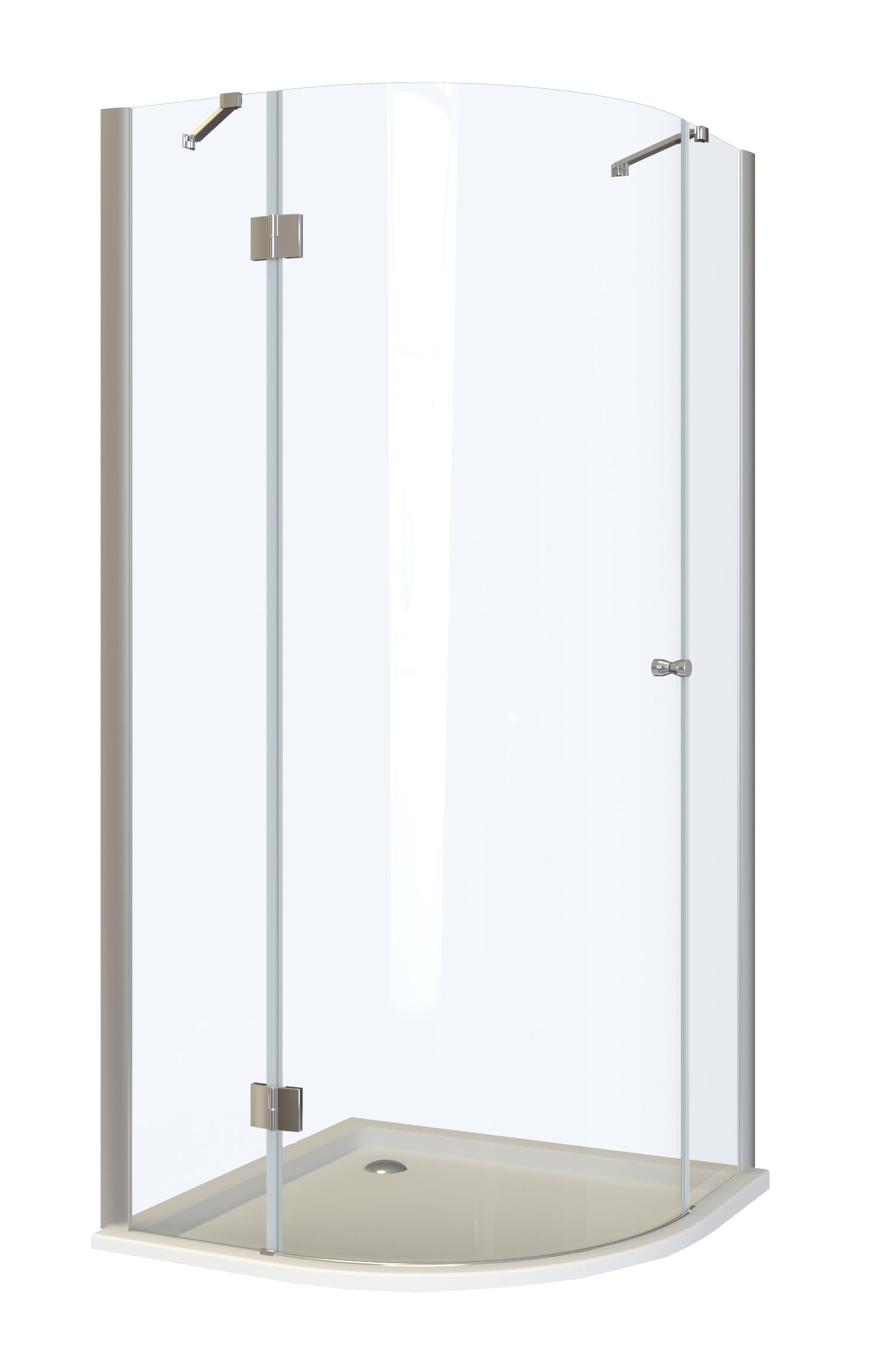 RIMINI L90 MRAMOR Well Čtvrtkruhový sprchový kout s mramorovou vaničkou - levé otevírání, skladem