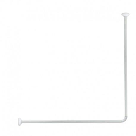 Tyč rohová na sprchový závěs Olsen 80 x 94 - 180 cm - bílá, skladem