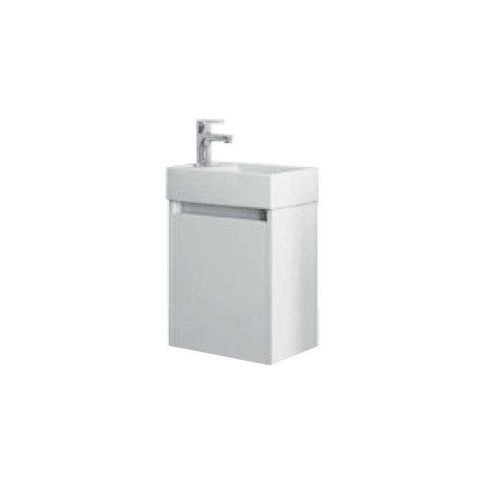SAGE 40 Bílá L Well Koupelnová skříňka s umyvadlem, závěsná, levá, skladem