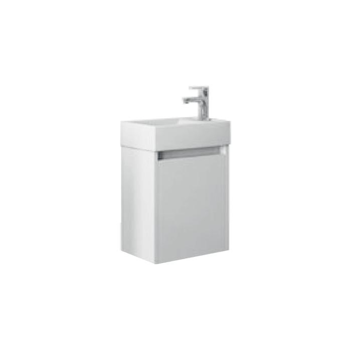 SAGE 40 Bílá P Well Koupelnová skříňka s umyvadlem, závěsná, pravá, skladem