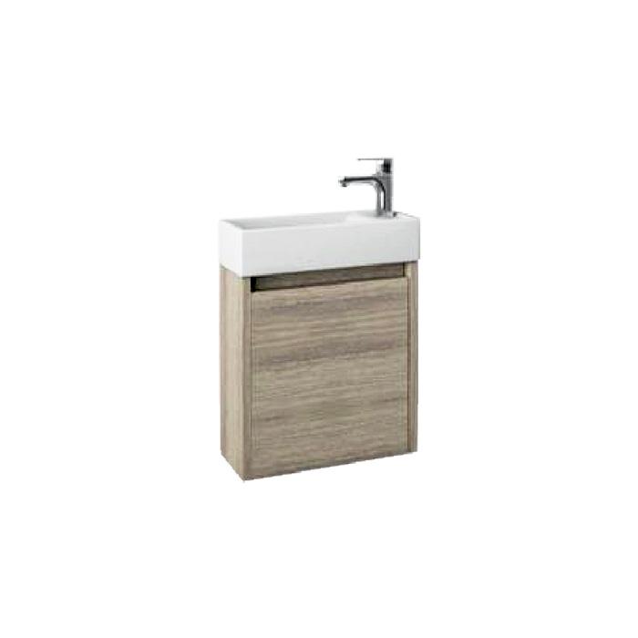 SAGE 40 Oak P Well Koupelnová skříňka s umyvadlem, závěsná, pravá, skladem