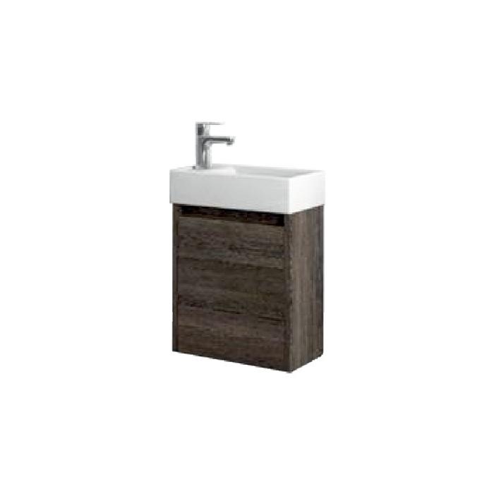 SAGE 40 Wenge L Well Koupelnová skříňka s umyvadlem, závěsná, levá, skladem