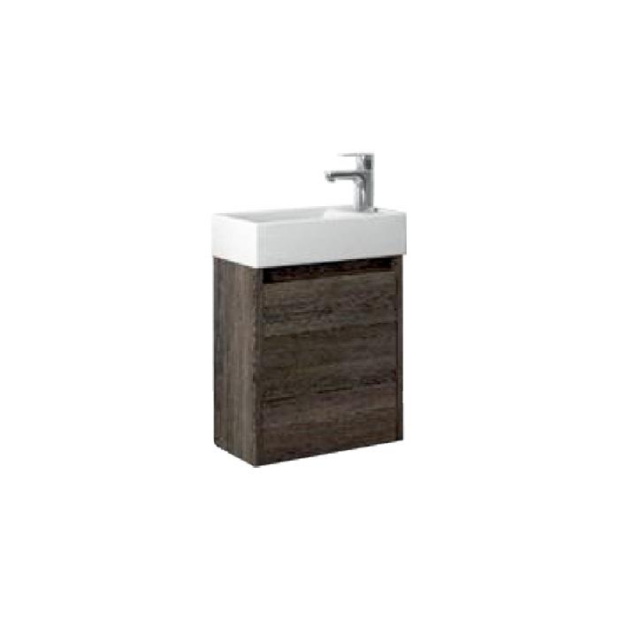 SAGE 40 Wenge P Well Koupelnová skříňka s umyvadlem, závěsná, pravá, skladem