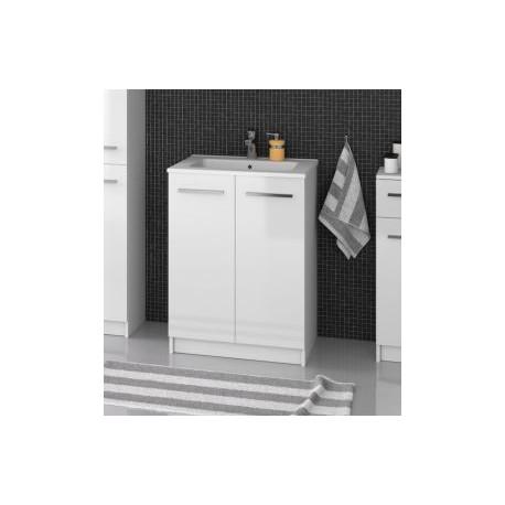 F-STANDARD-U60 Olsen-spa Skříňka s umyvadlem 60 cm, sokl, bílá, skladem