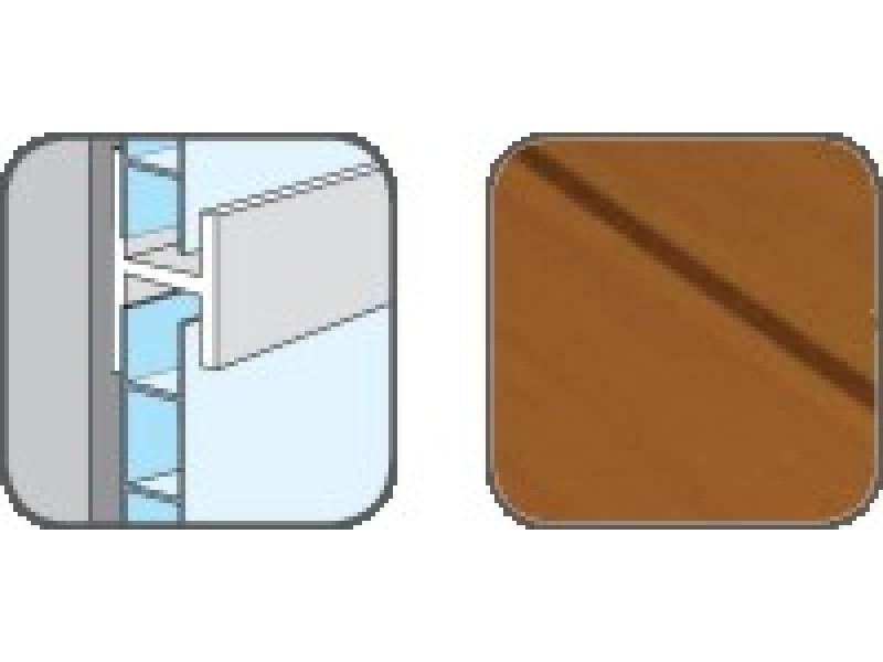 DA10303 Hopa Spojovací profil plastový 43 olše 3m, skladem