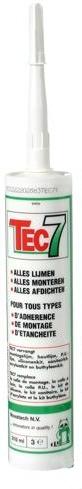 TEC 7 bílá silikon - lepidlo/tmel, skladem