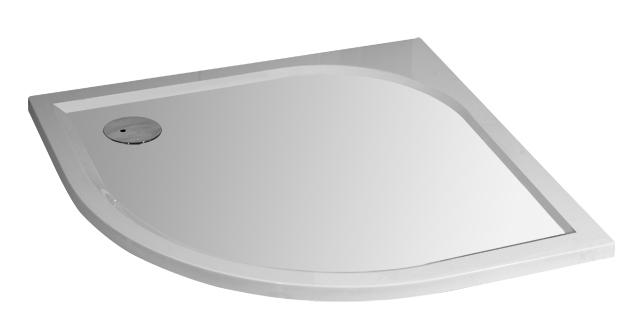 STONE Liten 88,5 x 88,5 cm Sprchová vanička čtvrtkruhová - levý odpad, skladem
