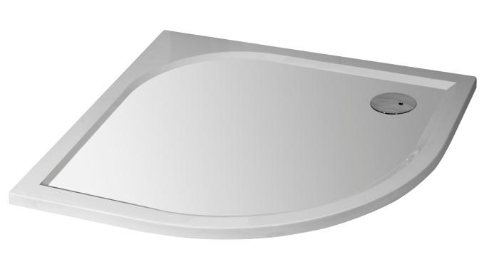 STONE Liten 78,5 x 78,5 cm Sprchová vaničky čtvrtkruhová - pravý odpad, skladem
