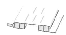D410603 Hopa Ventilační profil venkovní 43 olše 3m, skladem