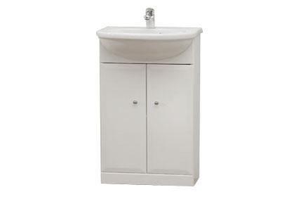 BEATA 50 Well Koupelnová skříňka s umyvadlem, sokl , skladem