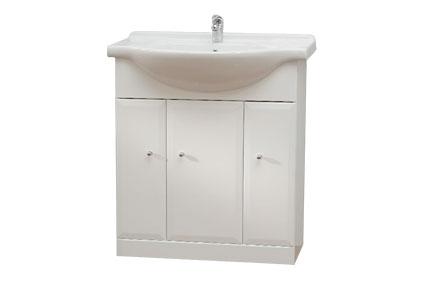 BEATA 75 Well Koupelnová skříňka s umyvadlem, sokl , skladem